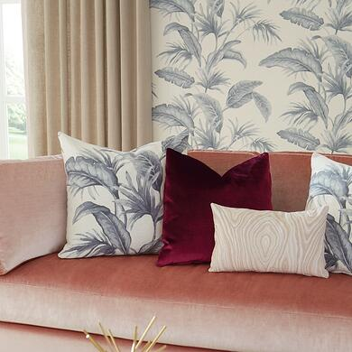 Tropical Leaves 30026W Delft 03_pillow vign_square