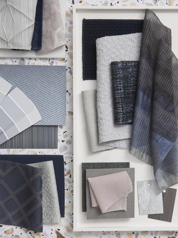 Fabricut Contract Stylized Blue